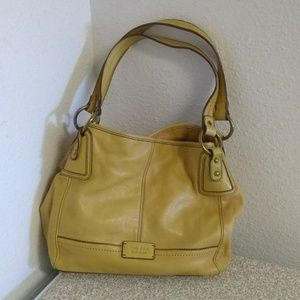 The Sak Yellow Cow Leather Shoulder Bag